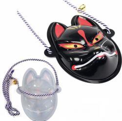 Mini Mask Kitsune (Black Fox)