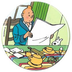 Magnet - Tintin läser tidningen