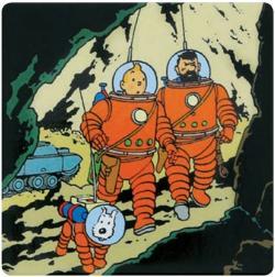 Magnet - Månen Tintin, Haddock och Milou