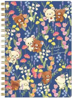 Rilakkuma Notebook: Korilakkuma meets Chairoikoguma Blue
