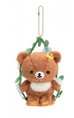 Rilakkuma Chairoikoguma Plush Hanging: Swing