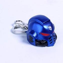 Warhammer Keychain: Metal Space Marine Primaris Helmet Ultramarine