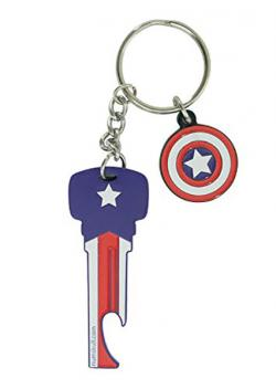 Captain America Bottle Opener Keyring