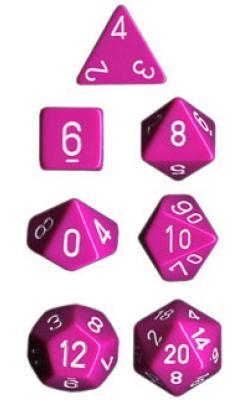 Opaque Light Purple/White (set of 7 dice)