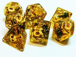 Necromancer Gold (set of 7 dice)