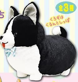 Ichini no Corgi Kurozu Plush: Corgi Friends Big