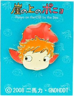 Ponyo on the Cliff Pin Badge Ponyo