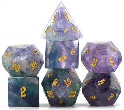 Semi-Precious Gemstone Dice Natural Fluorite