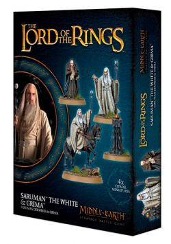 Saruman the White and Grima Wormtongue