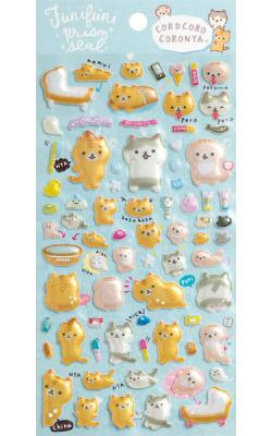 Corone Bread Cat Stickers: Funifuni Prism Seal