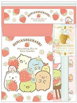 Sumikkogurashi Letter Set: Strawberry Fair