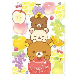 Rilakkuma A4 Plastic File Folder: Fruits