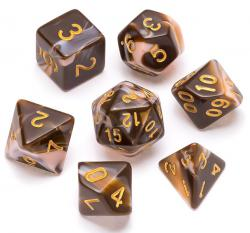 Marble Series: Chocolate & Cream - Numbers: Gold