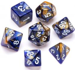 Marble Series: Blue & Gold - Numbers: White