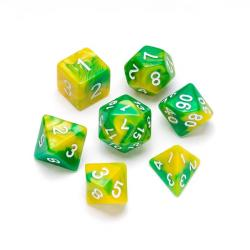 Marble Series: Yellow & Green - Numbers: White