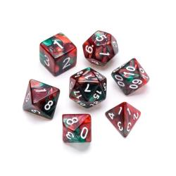 Marble Series: Red & Green - Numbers: White