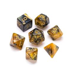Marble Series: Gold & Black - Numbers: Gold