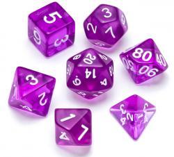 Transparent Series: Purple - Numbers: White