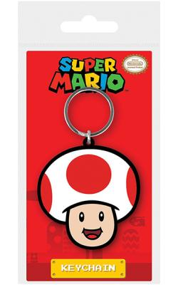 Super Mario Toad Rubber Keychain