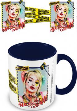 Birds Of Prey Coloured Inner Mug Harley Quinn Warning