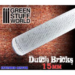 Rolling Pin DUTCH Bricks 15mm Scale