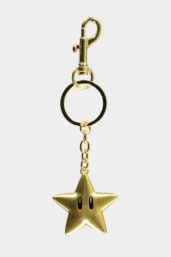 Super Mario Metal Keychain Super Star