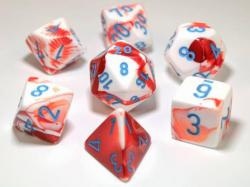 Gemini Red/White/Blue (set of 7 dice)