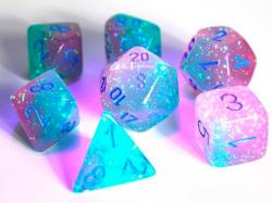 Gemini Gel Green/Pink/Blue (set of 7 dice)