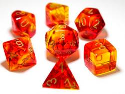 Gemini Red/Yellow/Gold (set of 7 dice)