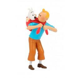 Liten figur - Tintin bär Milou
