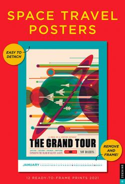 Space Travel Posters 2021 Wall Calendar