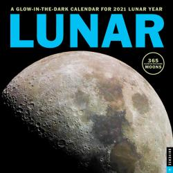 Lunar Glow-in-the-Dark 2021 Wall Calendar