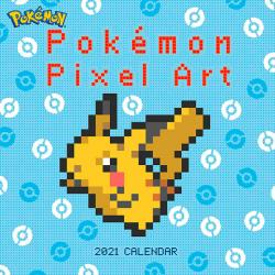 Pokemon 2021 Pixell Art Wall Calendar
