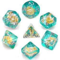 Seashell Blue (set of 7 dice)