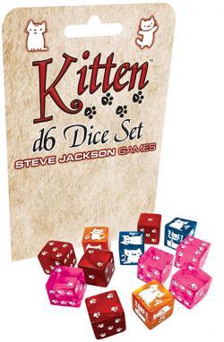 Kitten D6 Dice Set (12D6)