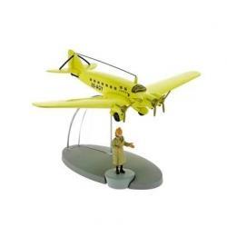 Flygplan - Ljusgult flygplan från Den svarta ön med Tintin