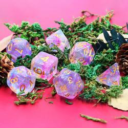 Violet Storm (set of 7 dice)
