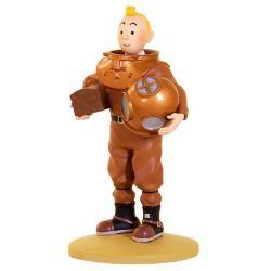 Figur 12 cm resin Tintin i dykardräkt