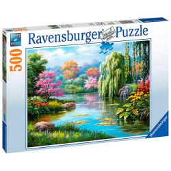 Romance at the Pond (500 pieces)