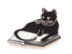 Bookstore Cat Pin