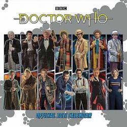 Doctor Who Classic Edition Official 2021 Wall Calendar