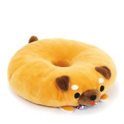 Mameshiba Sankyoudai Plush: Donut Pillow Mamesaburo