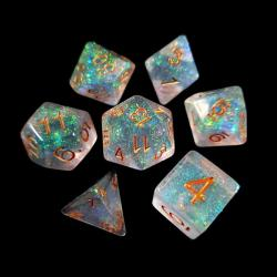 Holographic bronze/gold (set of 7 dice)