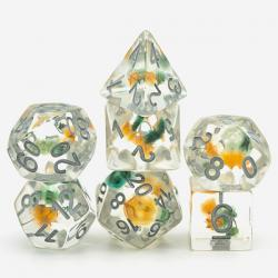 Gypsophila Paniculata Yellow Flower (set of 7 dice)