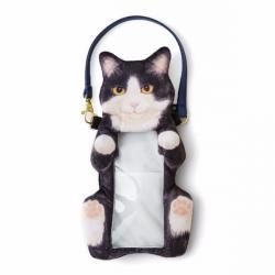 Cat Smartphone Pouch Black