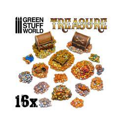 16x Resin Treasure Pieces