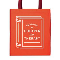 Reading is Cheaper Than Therapy Reusable Shopping Bag