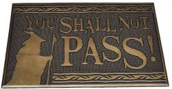Rubber Doormat You Shall Not Pass 40 x 60 cm