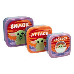 Plastic Storage Set The Child (Baby Yoda) Snack, Attack, Protect