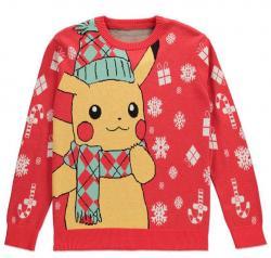 Knitted Christmas Sweater Pikachu